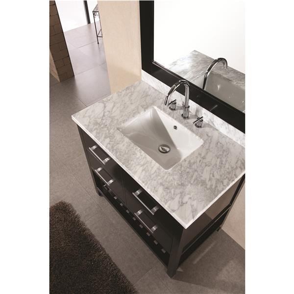 "London Single Vanity with Matching Mirror - 36"" - Espresso"