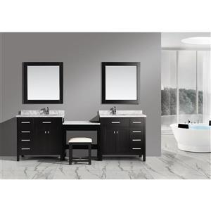 """Meubles-lavabo avec table et miroir London, 102"""", espresso"""