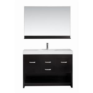 """Meuble-lavabo avec miroir Citrus, 48"""", espresso"""
