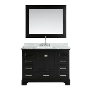 Meuble-lavabo avec miroir Omega, 48