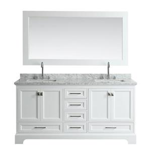 Omega Double Vanity with Matching Mirror - 72