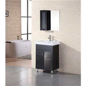 Milan Single Vanity with Matching Mirror - 24