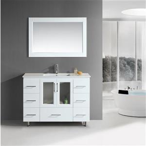 Stanton Single Vanity with Matching Mirror - 48