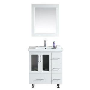 "Meuble-lavabo avec miroir Stanton, 32"", blanc"