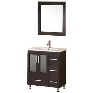 "Meuble-lavabo avec miroir Stanton, 32"", espresso"
