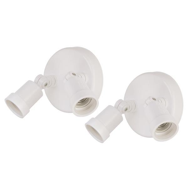 Acclaim Lighting Safety Lights - Aluminum - White - Pack of 2