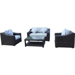 Encore Patio Set with Loveseat - Brown/Grey