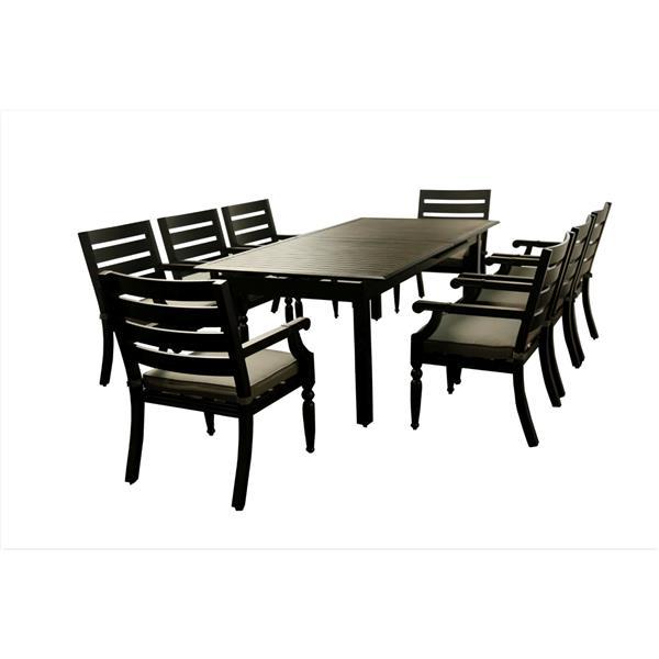 Royalton Expandable Table - Aluminum - Black/Grey