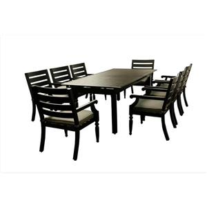 Royalton Expandable Table - Aluminum - Black/Grey