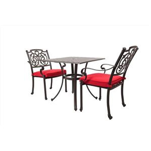 WD Patio Sandals Bistro Set - Aluminum - Red