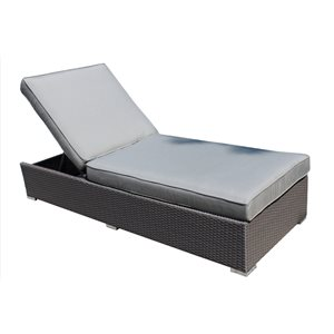 Chaise longue Palms, gris