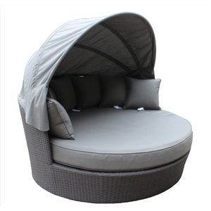 WD Patio Tao Day Bed - Grey