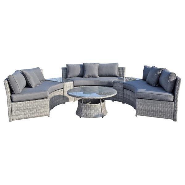 6-Piece Exterior Sofa Set - Grey