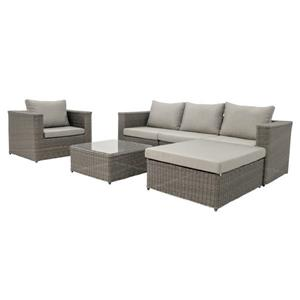 4-Piece Exterior Sofa Set - Brown