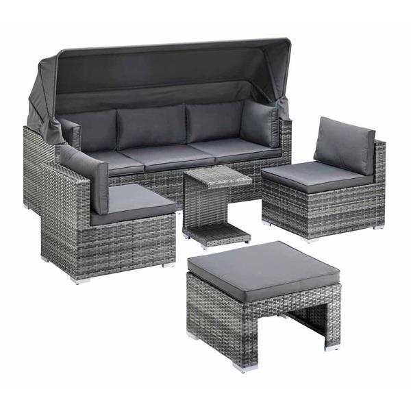 5-Piece Exterior Sofa Set - Grey