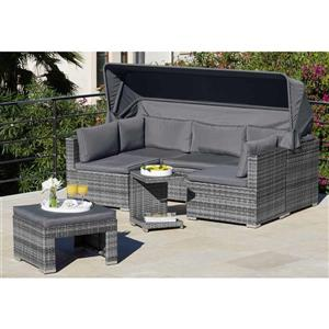 5-Piece Exterior Sofa Set - Grey