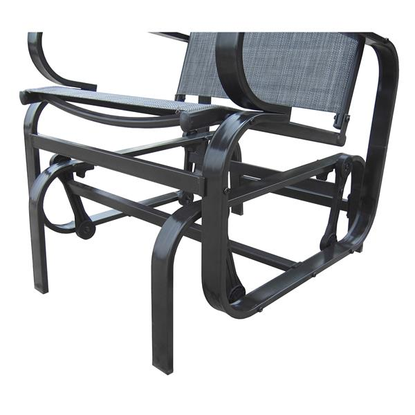 Chaise berçante à roulement à bille pour extérieur, gris