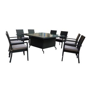 Henryka 9-Piece Outdoor Dining Set - Grey