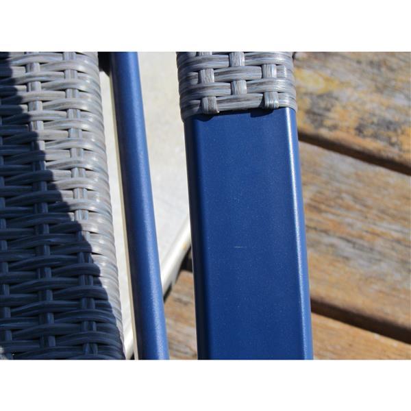 Ensemble de 2 chaises longues, bleu