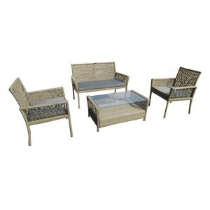 Henryka 4-Piece Outdoor Conversation Set - Beige