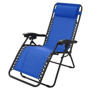 Chaise de patio ajustable, bleu