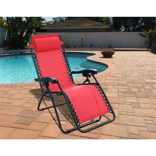 Henryka Patio Casual Chair  - Adjustable – Red