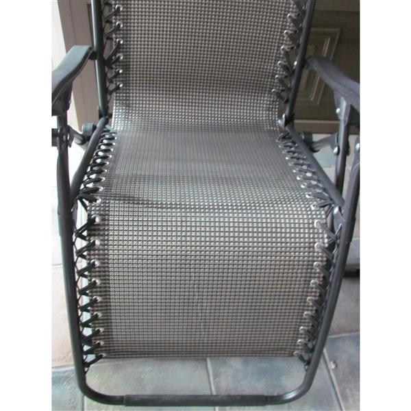 Chaise de patio ajustable, noir