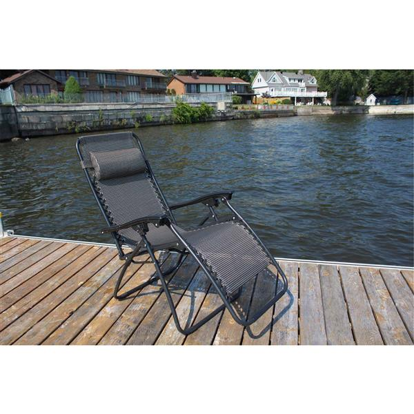 Patio Casual Chair  - Adjustable – Black