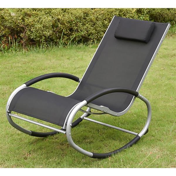Chaise berçante de détente, noir