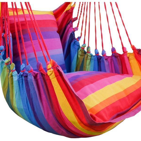 Grande balançoire hamac et coussins, multicolore, rouge