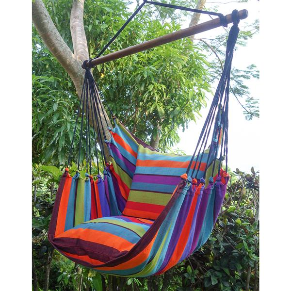 Large Hammock Swing with Cushions- Multicolour