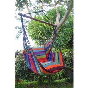 Grande balançoire hamac avec coussins, multicolore