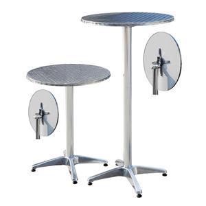 Table bar ajustable, intérieur/extérieur, acier inoxydable