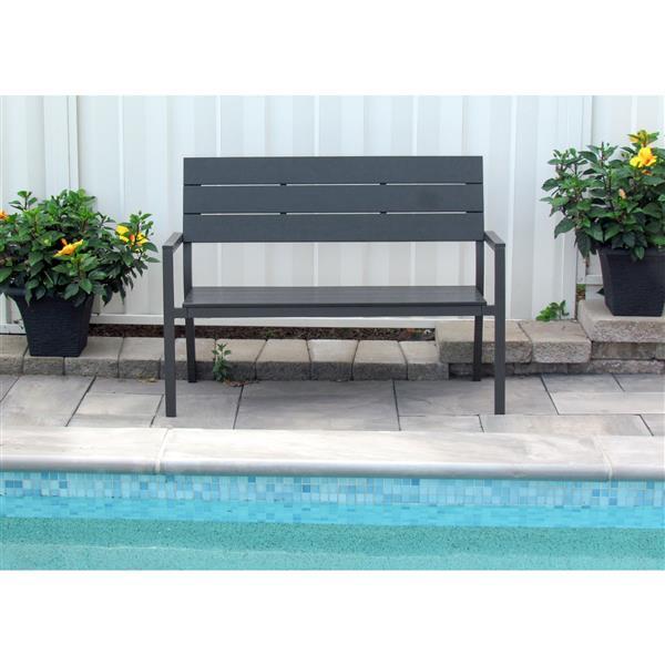 Henryka Garden Bench - 50.4 x 22.4 x 35.8-in - Grey