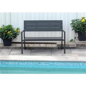 Henryka Garden Bench - 50.4 x 22.4 x 35.8-in - Grey