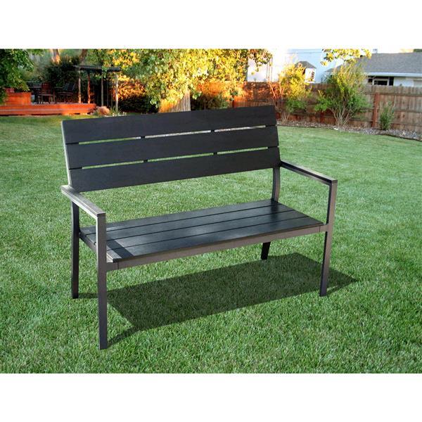 Henryka Garden Bench - 50.4 x 22.4 x 35.8-in – Black