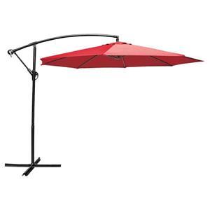 Parasol en porte-à-faux, 10', rouge