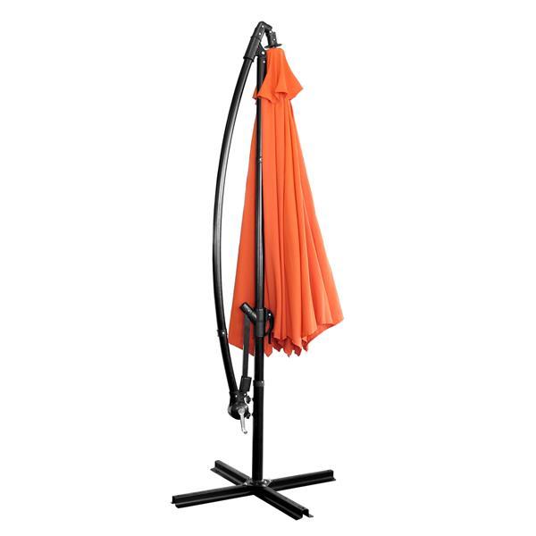 Parasol en porte-à-faux, 10', orange