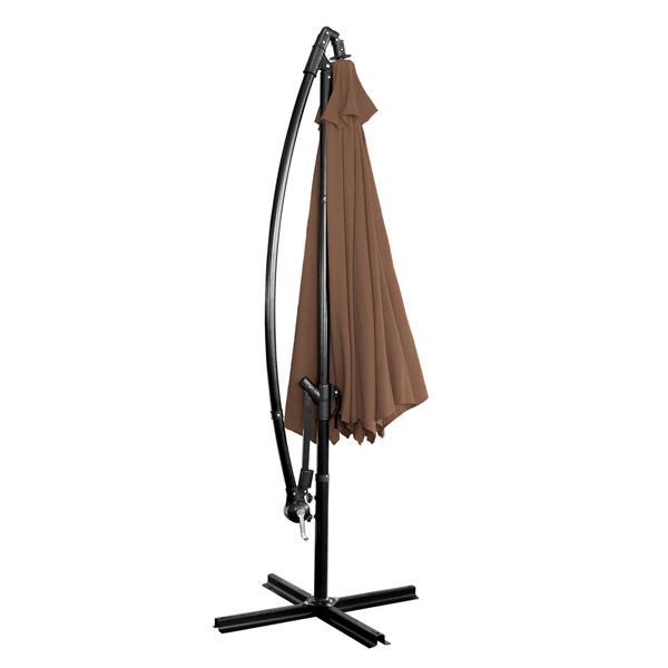 Parasol en porte-à-faux, 10', chocolat