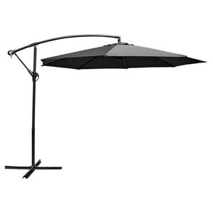 Parasol en porte-à-faux, 10', noir