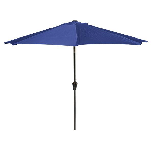 Parasol de marché inclinable, 9', bleu marine