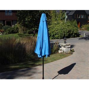 Parasol de marché inclinable, 9', bleu