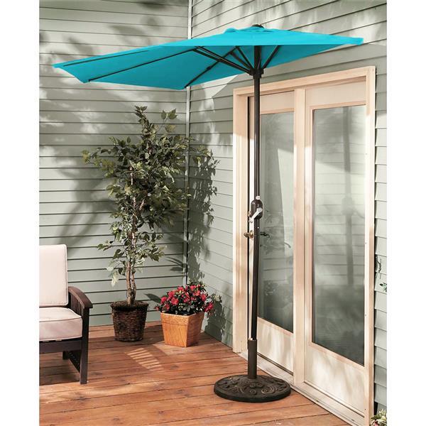 Demi parasol 9', bleu