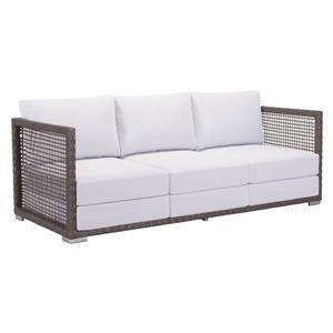 Sofa Coronado, cacao et gris pâle