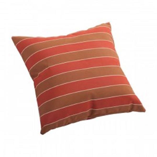 Coussin décoratif extérieur Joey de Zuo Modern, 16,5 po x 16,5 po, orange rayé