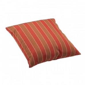 Joey Outdoor Pillow - Large - Brown and Clay Wide Stripes