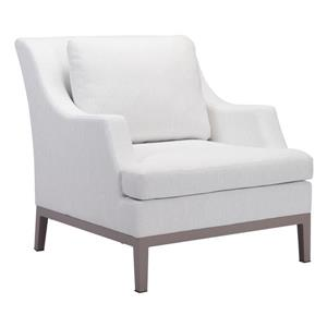 Fauteuil Ojai, blanc champagne