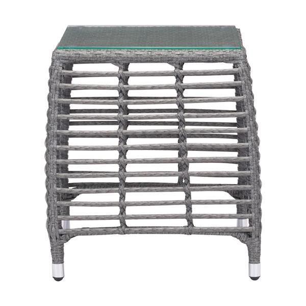 Table d'appoint Trek Beach, gris et beige