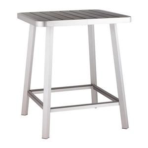Table de bar Megapolis, aluminium brossé