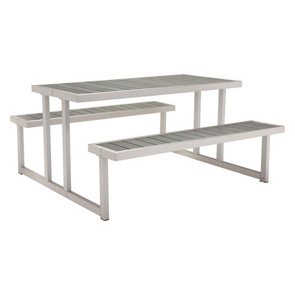 Cuomo Picnic Table - Brushed Aluminum